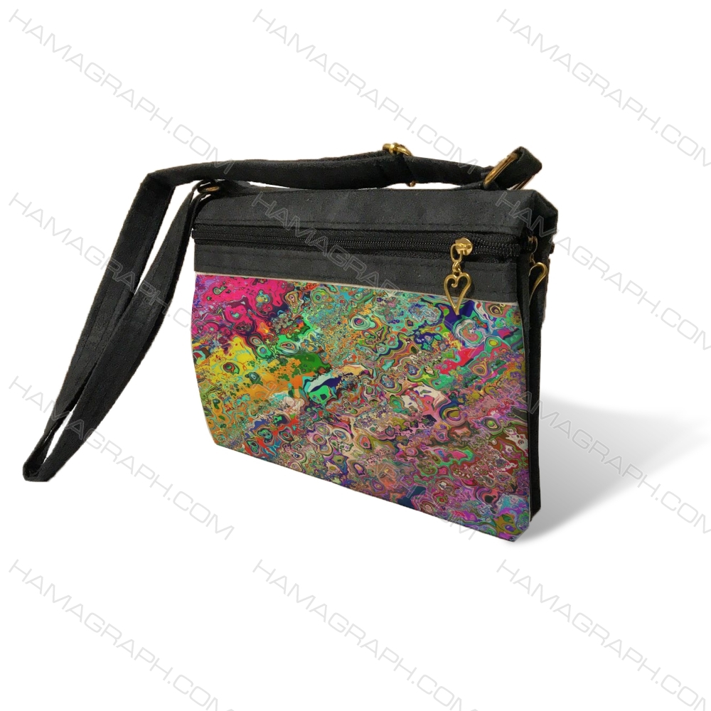 کیف دوشی زنانه با طرح colory pat - کیف زنانه طرح رنگارنگ
