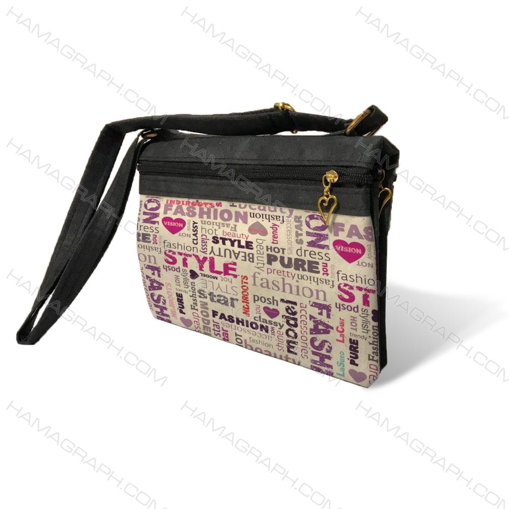 کیف دوشی زنانه با طرح love pat 2