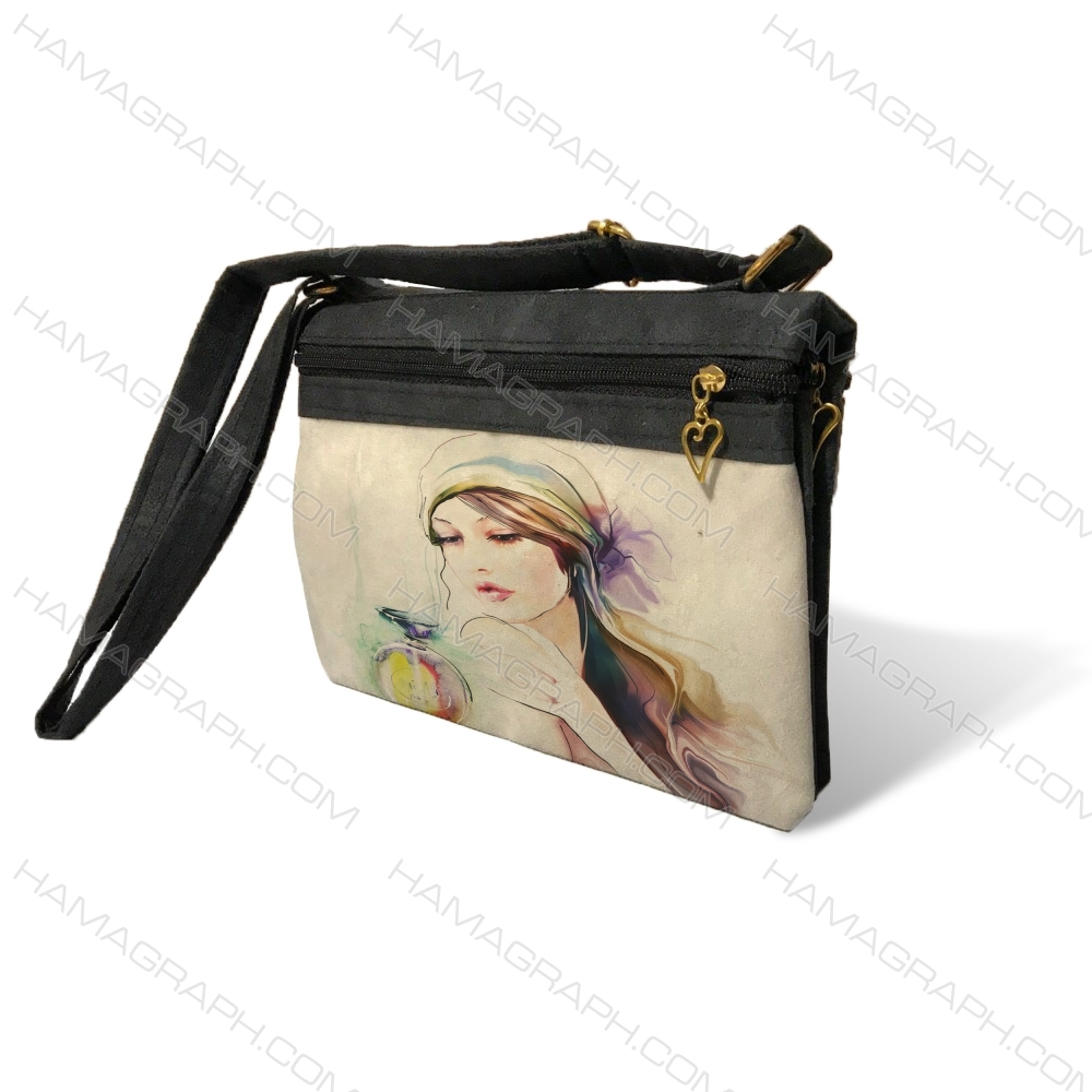 کیف دوشی زنانه طرح lovely girl
