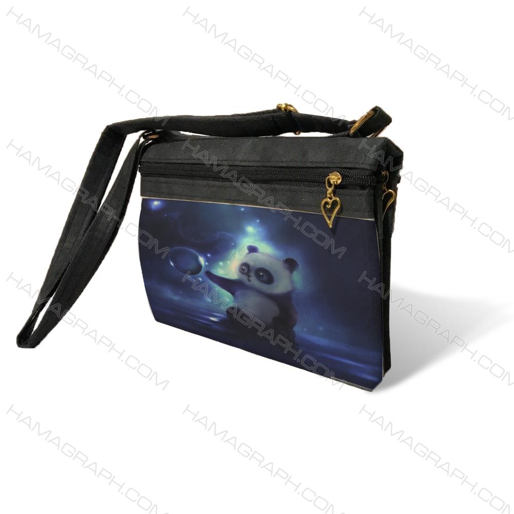 کیف دوشی زنانه طرح lovely panda