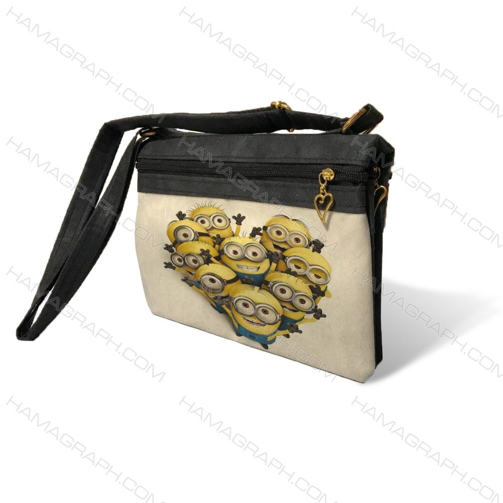 کیف دوشی زنانه با طرح minions
