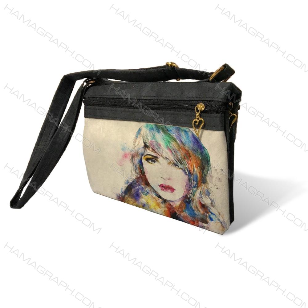 کیف دوشی زنانه طرح paint girl