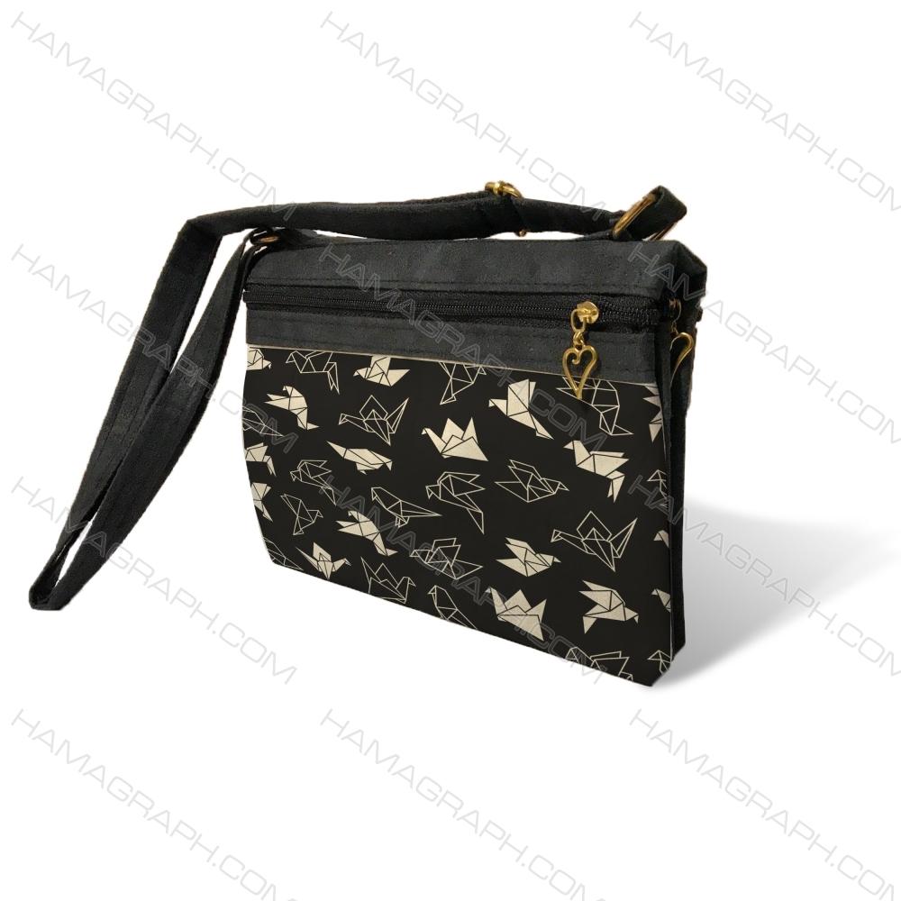 کیف دوشی زنانه با طرح paper bird