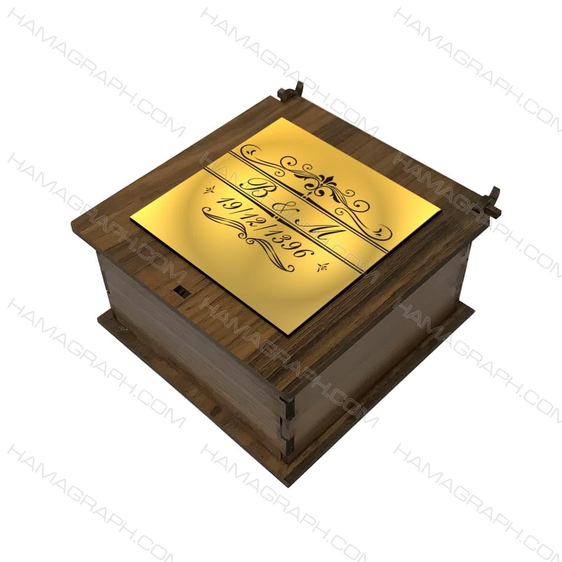 جعبه هدیه با نوشته و تاریخ دلخواه طرح آویزی