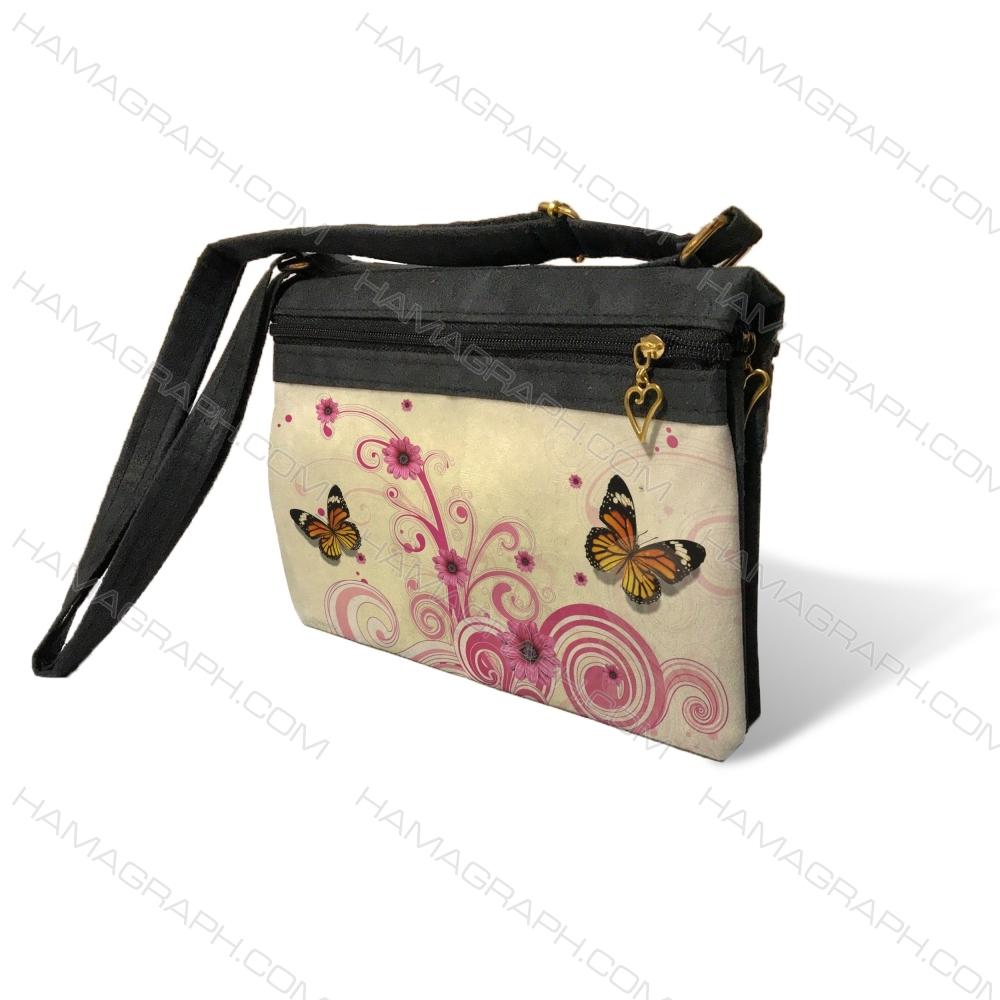 کیف دوشی زنانه با طرح pink butters