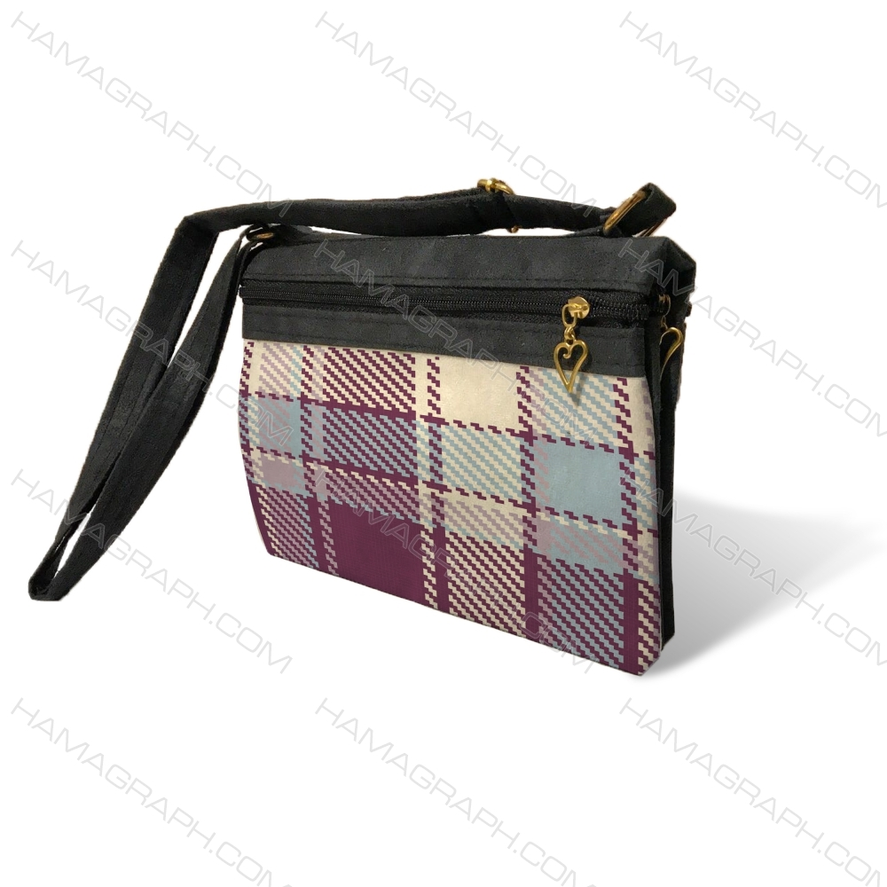 کیف دوشی زنانه با طرح purple pat