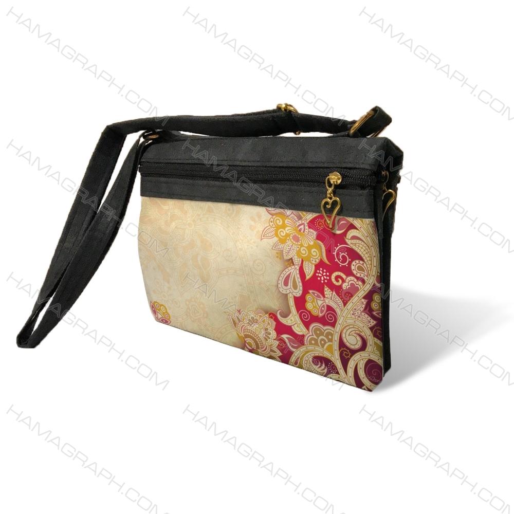 کیف دوشی زنانه طرح red flower