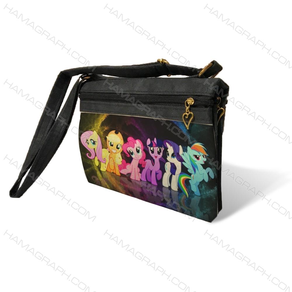 کیف دوشی زنانه با طرح unicorns
