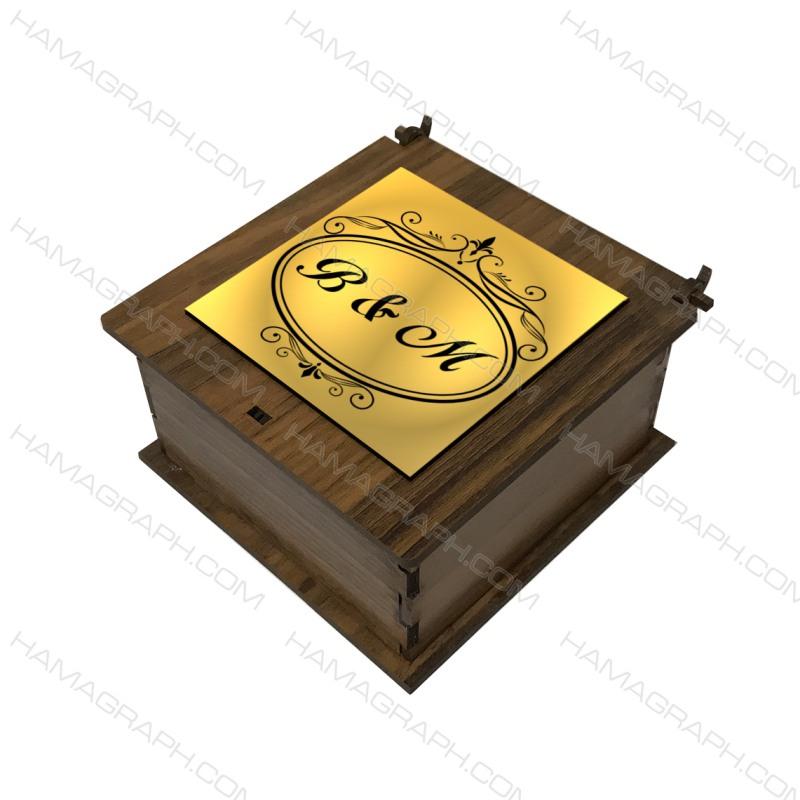 جعبه کادو با نوشته دلخواه طرح فانتزی - باکس هدیه - جعبه هدیه - طرح فانتزی