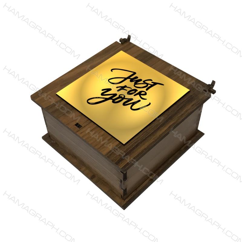 باکس هدیه با نوشته just4u 3 - باکس هدیه - جعبه کادو