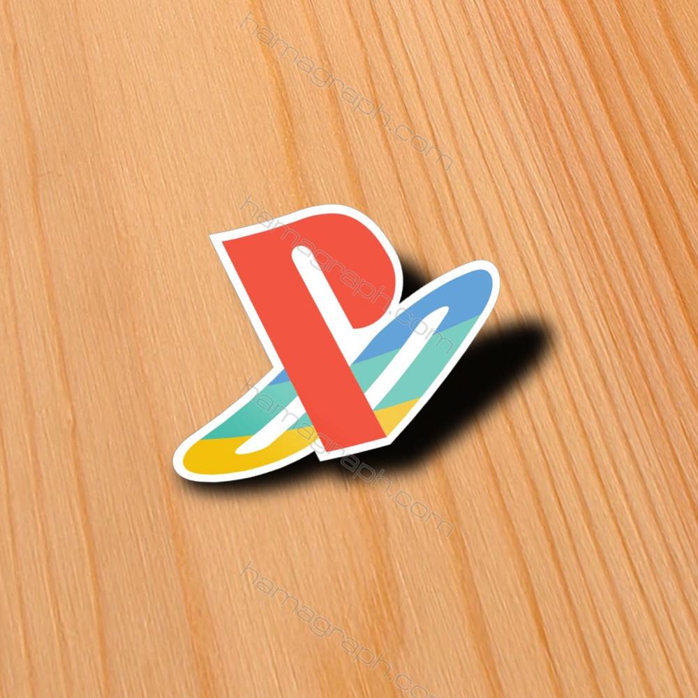 مینی برچسب با طرح ps4 logo