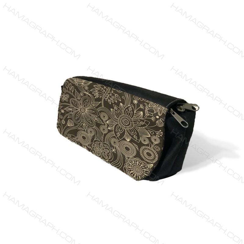 کیف جامدادی طرح black garden - طرح گل و گیاه - جامدادی های طرح دار - کیف جامدادی رومیزی